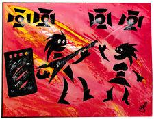 Rockstar Rock Pesado Metal Rocker Arte Acrílico Canvas Pintura morien Wyn Jones