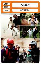 FICHE CINEMA : FAIR PLAY - Magimel,Renier,Savin,Bailliu 2006