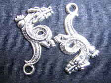 TIBETAN SILVER DRAGON CHARM   BUY 10 FOR ONLY £1.50!!!!