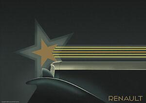 Renault Art Deco 1931 Vintage Car Poster Prints Picture A1