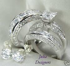 His & Her Matching Engagement Wedding Ring Set, Sz 6