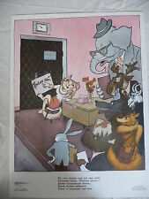 Russian satirical campaign cartoon poster: anti vice USSR 1985