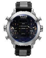 Mens Watch Quartz Digital Black Rubber Strap Date Display Multifunction Luxury