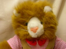 Stuffed Animal Lion Cat with Clothes
