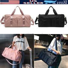 Women Large Nylon Shoes Gym Sports Lady Shoulder Bag Luggage Duffel Travel Yoga