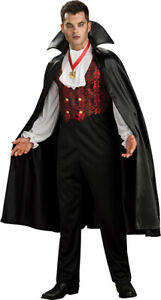 Mens Vampire Halloween Fancy Dress Outfit Costume Transylvanian **New