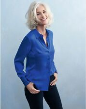 BNWT Pure Collection Pure Silk Blouse - Bright Sapphire - UK Size 10 RRP £120