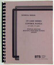 BTS CP-1400C - CP-1440C Control Panels Instruction Manual 1990