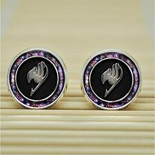 Fairy Tail InspiredEarrings Studs jewelry glass Cabochon Earrings Post charm ear