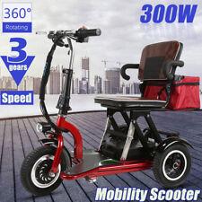 Faltbarer Mobilitäts Roller Elektrischer Dreirad Reise Stiefel SCOOTER 3 WHEEL