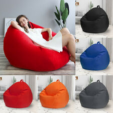 Bean Bag Couch Sofa Chair Cover Waterproof Lazy Lounger Cover Adult Kids Size