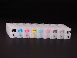 9PC/SET Empty Refillable Cartridge With Chip For EPSON SURE COLOR P800 Printer