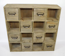 Cabinet 8 Drawers Wooden Storage Unit Shabby Chic Vintage Home Office Furniture