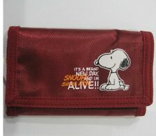 New Peanuts Snoopy three folding Wallet Kid's Wallet W42 free shipping Deep Red