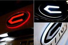 Front Trunk CONCEPTO LED Emblem Badge White Round 2PC For Kia Stinger 2018~2019+