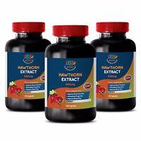Blood Pressure Reducer - Hawthorn Leaf Extract 665mg - Hawthorn Capsules 3B