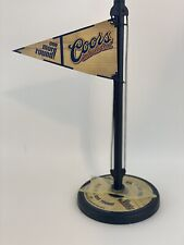 Coors Beer One More Round Decorative Table Flag with Spinner 2002