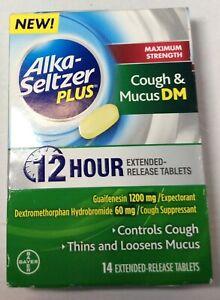 Alka Seltzer Plus Cough & Mucus DM 12 HOUR RELEASE TABLETS 14 CT