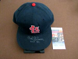 BOB GIBSON HOF 81 CY YOUNG ST LOUIS CARDINALS SIGNED AUTO VTG ROMAN CAP HAT JSA