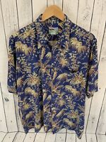 VTG Reyn Spooner Hawaiian Short Sleeve Button Front Aloha Shirt Men's Size L E4