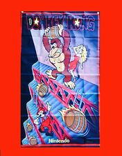 LARGE Donkey Kong Flyer Arcade Video Game Banner Flag Poster