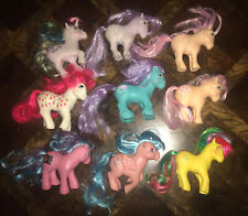Lot 9 my little pony vintage  Tic-tac-toe Strawberry Unicorn MLP