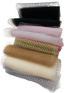 Bridal Wedding birdcage veiling Millinery hat veil net Per Meter various colours