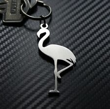 FLAMINGO Tropical Pink Bird Animal Elegant Pretty Keyring Keychain Key Fob Gift
