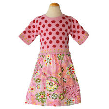 Oilily Girls Pink Polka Dot Floral Easter Dress Size 6