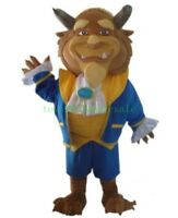 Beauty and the Beast Mascot Costume Profession Parade Cosplay Fancy Dress Adults
