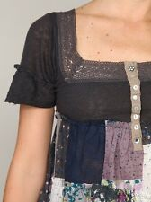 💜RARE Free People Quilted Treasures Patchwork Lace Tunic Dress XS 0 2 S 4 6 $98