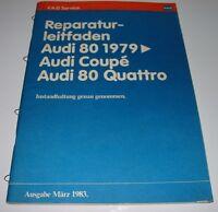Werkstatthandbuch Audi 80 Quattro B2 Typ 81 85 Coupe Instandhaltung Inspektion