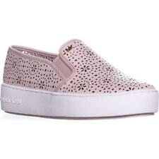 NIB MICHAEL KORS TRENT  SLIP-ON LASERED SOFT PINK LEATHER SNEAKERS SIZE  7 M