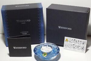 NEW WATERFORD CRYSTAL LISMORE VOTIVE TOPAZ ICE ~ IN ORIGINAL BOX