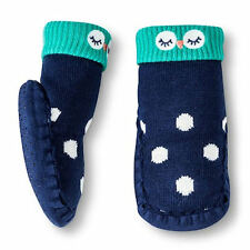 NWT Circo Owl Infant Baby Knit No-Slip Slippers Moccasins Socks Shoes 0-6 M