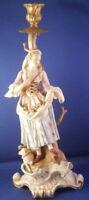 Antique 19thC Meissen Porcelain Figural Candlestick Figurine Porzellan Figur