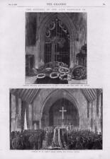 1873 - Antique Print FUNERAL Napoleon Tomb St Marys Chapel Wreaths Coffin(135)