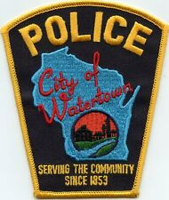 WATERTOWN WISCONSIN WI Serving The Community Since 1853 POLICE PATCH