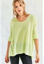 Kimchi Blue Tunic Top Lightweight Drapey Knit High-Low Size Small NWT Lime