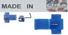 1000 scotch locks 18-14 ga quick splice electrical terminals blue Made in USA