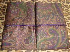 2 Standard Pillowcases Set two new Ralph Lauren BOHEMIAN PAISLEY CORDING fabric