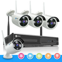 Wireless 8CH 1080P HDMI NVR Home Outdoor 720P CCTV IP Security Camera System IR