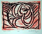 Pierre Alechinsky  lino Litho BR Planche V 1970 Art Print Linocut Lithograph