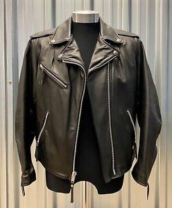 Harley Davidson Motorcycles Women's Black Leather Jacket Size Medium USA Made