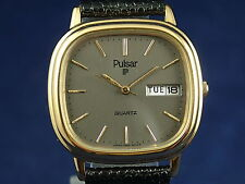 Vintage Pulsar Quartz Gents Watch Circa 1980s New Old Stock NOS + Orig Box