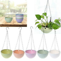 Hanging Basket Chain Flexible Garden Pot Plastic Home Planter Decoration Flower
