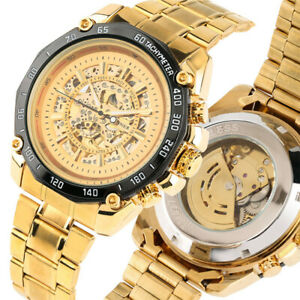 Top Brand WINNER Men Automatic Mechanical Wrist Watch Stainless Steel Band Gift