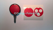 Carbone rouge film décor clé key smart CABRIOLET AMG FORTWO 450 BRABUS COUPE A