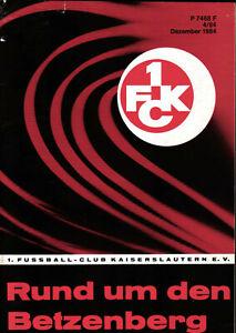 1. FC Kaiserslautern  - Rund um den Betzenberg - Dezember 1984 - Heft 4/84