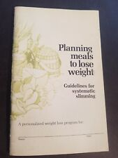 Planning Meals To Loose Weight Mini Booklet Beecham Labratories
